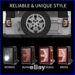 LED Tail Lights with Reverse Light Turn Signal Lamps for Jeep Wrangler JK 07-17