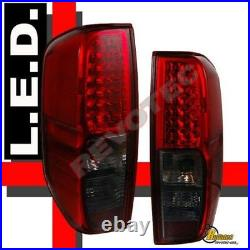 LED Tail lights Lamps For Nissan 05-19 Frontier XE SE LE RH & LH Red Smoke