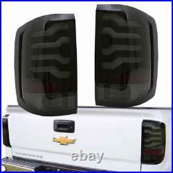 LED Taillights Smoke Black FOR 2014-2017 Chevy Silverado 1500 2500HD Sierra 3500
