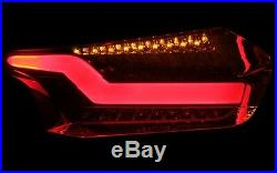LED bar Rear Tail Lights Taillights Ford Focus MK3 Face Smoke Black