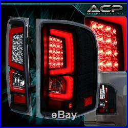 Led Black/Red Lens Rear Tail Lights For 2007-2014 Chevy Silverado 1500 2500 3500