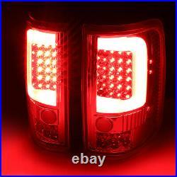 Led C-tube Barfor 04-08 Ford F150 Lobo Tail Light Rear Brake Lamps Set Smoked