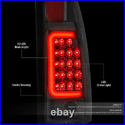 Led C-tube Barfor 88-00 Chevy Gmc C/k Pickup Tail Light Rear Brake Lamp Smoked