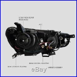 Led Headlight Full Smoked Tail Light For Mitsubishi Lancer Evo Audi Style Set