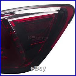 Lexus 2006-2008 IS250 IS350 Red Smoke Lens LED Rear Tail Brake Lights Pair