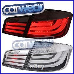 M5 STYLE CLEAR LED TAIL LIGHTS BMW F10 5-SERIES 520D 520i 528i 535i & 550i 10-14