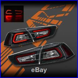 MARS Black Neon LED Tail lights for Mitsubishi Lancer CJ CF & EVO X Sedan 07-19