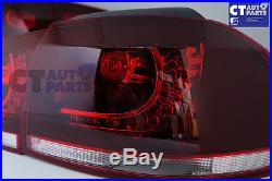 MK6 Golf R Style Clear Red LED Tail lights for VW Golf VI VW VI 6 GTD GTI