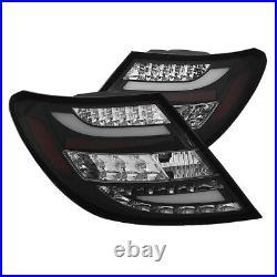 Mercedes Benz 08-11 W204 C-Class Black LED Rear Tail Lights Brake Lamp Set