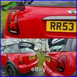Mini Gen 1 RED LED Union Jack Rear tail Lights R50, R53 2004-2006 LCI