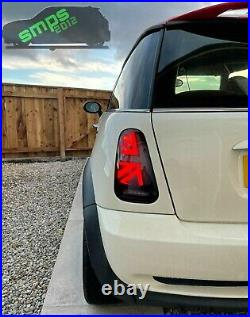 Mini Gen 1 Smoked LED Union Jack Rear tail Lights R50, R53 2001-04 Pre-LCI