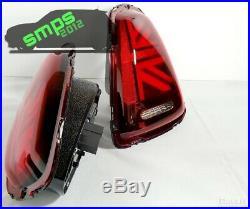 Mini Red LED Union Jack Rear tail Lights R56 2006 2010 Gen 2 (pre-LCI)