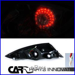 Mitsubishi 06-11 Eclipse Black Halo Projector Headlights+LED Tail Brake Lamps