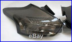 Mk3 Focus RS ST Rear LED Chrome Smoked Tinted Tail Lights Sequential Indicators