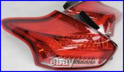 Mk3 Ford Focus RS ST Rear LED Red Clear Tail Lights with Sequential Indicators