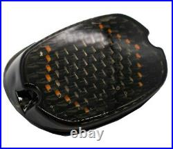 Moons MC V3 Smoked Low Profile LED Taillight Turn Signals Harley Softail Dyna XL