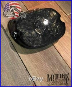 Moons Smoked Low Short Laydown LED Integrated Taillight Turn Signals Harley Dyna