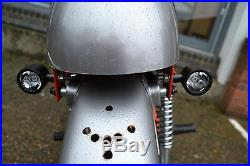 Motorbike Stop Tail Lights and Indicators Black CNC Billet Ally Integrated LED