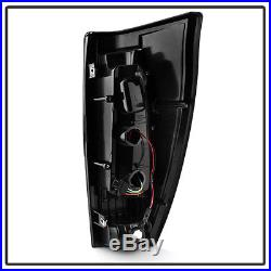 NEW Black 2002-2006 Chevy Avalanche 1500 2500 LED Tube Tail Lights Brake Lamps
