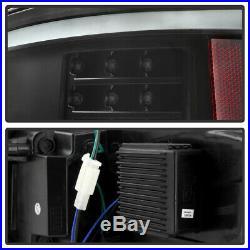 NEW Black 2009-2014 Ford F150 LED Light Tube Tail Lights Brake Lamps Left+Right