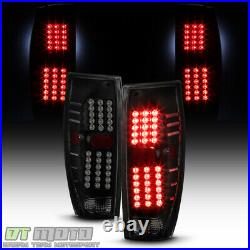 NEW Black Smoke 2002-2006 Chevy Avalanche 1500 2500 LED Tail Lights Brake Lamps