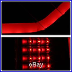 NEW Black Smoke 2009-2014 Ford F150 LED Tube Tail Lights Brake Lamps Left+Right