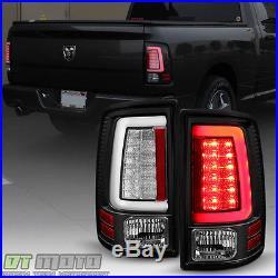 NEW Black V2 2009-2017 Dodge Ram 1500 2500 3500 LED Tube Tail Lights Brake Lamps