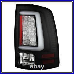 NEW Black V2 2009-2018 Dodge Ram 1500 2500 3500 LED Tube Tail Lights Brake Lamps