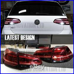NEW MK7.5 Style LED TAIL LIGHTS FOR VW MK7 SEQUENTIAL FLOWING INDICATOR UK LAMPS