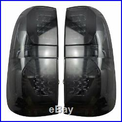 NEW Rear LED Smoke Black Tail Light Lamp For Toyota Hilux Vigo SR5 2005-2014 MK7
