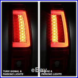 Neon Pyro Tube 2003-2006 Chevy Silverado Red Clear LED Tail Lights Brake Lamps