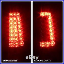 New 03-06 Silverado 04-06 Sierra Black LED Tail Brake Lights Left & Right Set