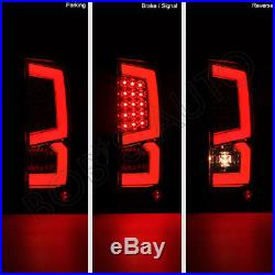 New 2007-2013 GMC Sierra 1500 2500 3500 Red SUPER BRIGHT LED Tube Tail Lights