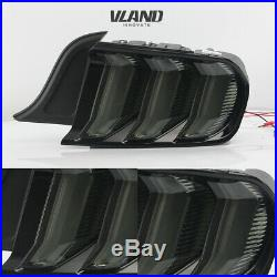 New LED Tail Lights For Ford Mustang 2015-2019 Smoked LED Rear Lights Assembly