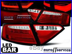 New Set Rear Lights Tail Lights Ldaue2 Audi A5 2007-2011 Coupe Red Led Bar