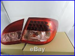 New Style Jdm Led Tail Lights Lamps RED / CLEAR For 03-07 Toyota Corolla LCO