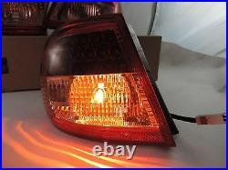 New Style Led Tail Lights Lamps RED /CLEAR For 2003 2004 05 2007 Toyota Corolla