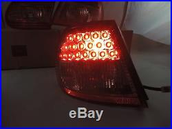 New Style Led Tail Lights Lamps Red / Clear For 20032004200507 Toyota Corolla
