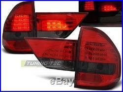 New Top Set Tail Lights Ldbm48 Bmw X3 E83 01.04-06 Red Smoke Led