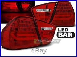 New Top Set Tail Lights Ldbmc7 Bmw E90 05-08 Red Led Bar