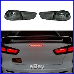 New Updated Smoked LED Tail lights Rear Lamp For Mitsubishi Lancer EVO 2008-2017