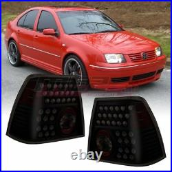 OE Style Fit For 1999-2004 Volkswagen Jetta LED Brake Tail Lights Smoke