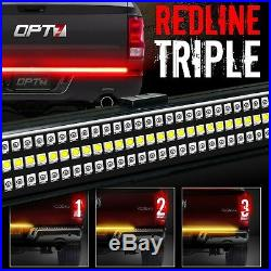OPT7 60 TRIPLE LED Truck Tailgate Bar Amber Sequential Turn Signal Backup Light