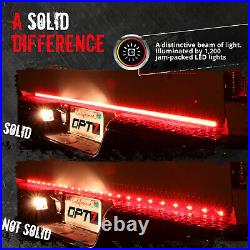 OPT7 60 TRIPLE LED Truck Tailgate Bar Red Sequential Turn Signal Backup Light