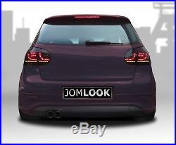 Original JOM URBAN LED Rückleuchten Schwarz Smoke SET für VW Golf 5 V MK5 Limo