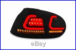 Original Lightbar LED Rückleuchten Schwarz dynamische Lauf Blinker für VW Golf 5