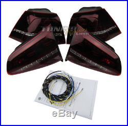 Original VW R BLACKLINE / Schwarz LED Rückleuchten + Kabelbaum für VW Golf VII 7