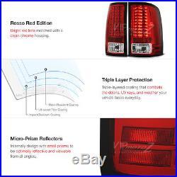 PREMIUM 2007-2013 GMC Sierra 1500 2500HD 3500HD Factory RED LED Tail Lights