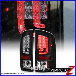 PRISM 2002-2006 Dodge Ram 1500 2500 3500 Black LED Rear Tail Lights Brake Lamp