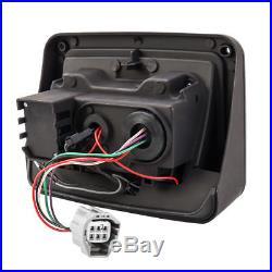 Pair 07-17 Jeep Wrangler JK LED Smoke Tail Lights Rear Brake Reverse Turn Signal